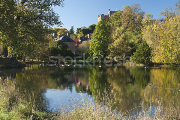 The English homestead with the pond  Stock photo © hanusst