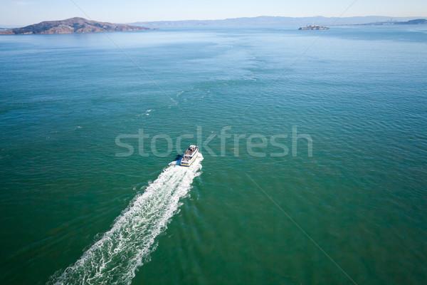San Francisco hemel zee berg oceaan brug Stockfoto © hanusst