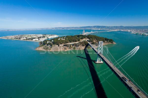 San Francisco brug schat eiland hemel stad Stockfoto © hanusst