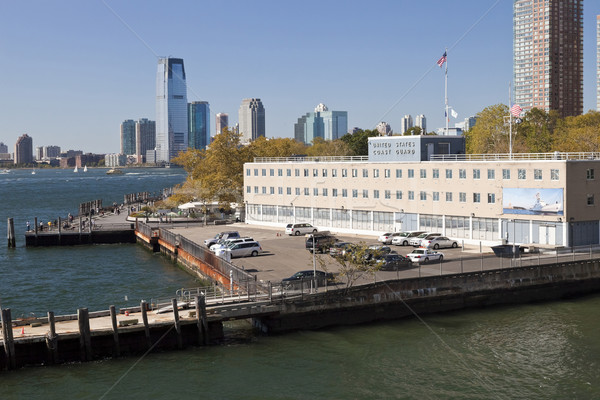 United States coast guard building and Jersey City Stock photo © hanusst