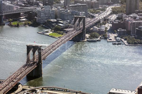 Photo stock: New · York · City · pont · ciel · bureau · bâtiment · ville