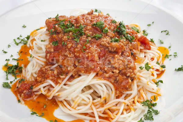 Спагетти болоньезе с курицей