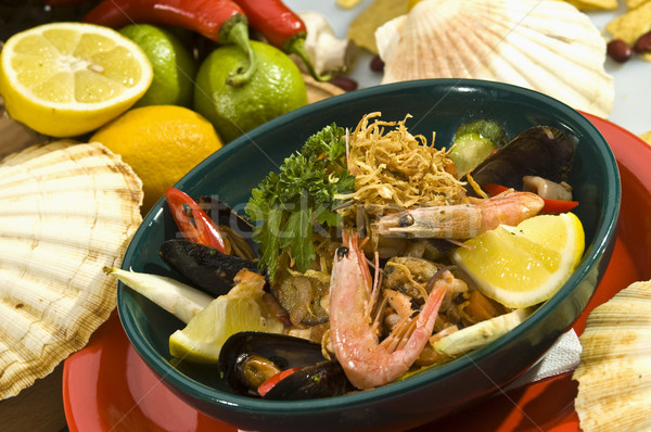 Fruits de mer salade mexican style alimentaire poissons Photo stock © hanusst