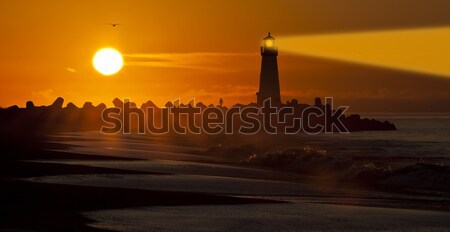 Stock photo: Santa Cruz Walton Lighthouse in the morning