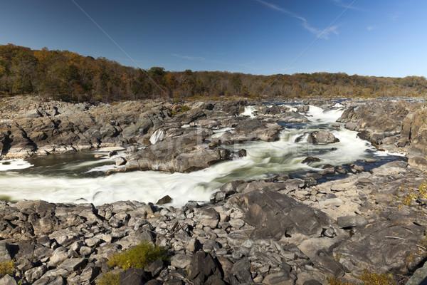 парка Виргиния США реке облака Сток-фото © hanusst