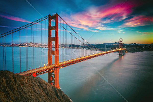 San Francisco Golden Gate Bridge business water weg stad Stockfoto © hanusst