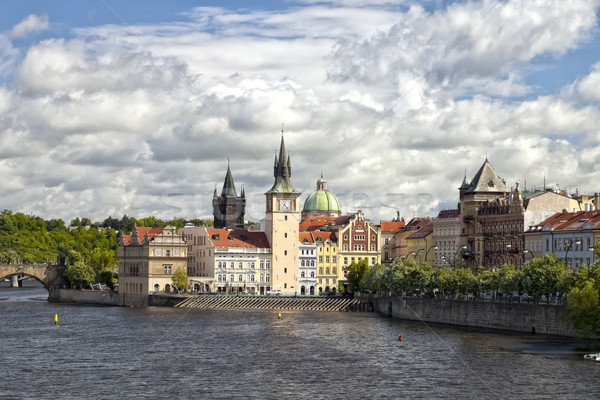 Prague, Czech Republic, Novotny Lavka at Old City Stock photo © hanusst
