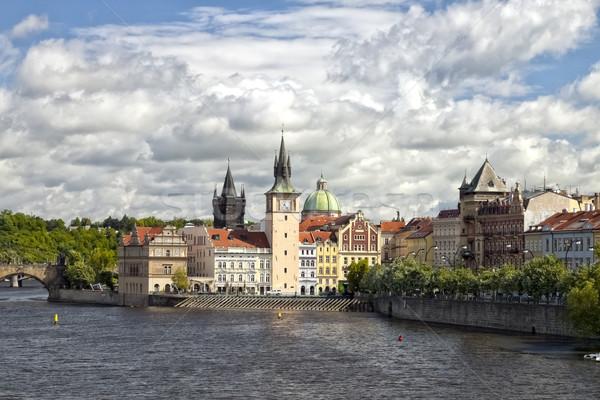 Praga Repubblica Ceca vecchio città acqua clock Foto d'archivio © hanusst