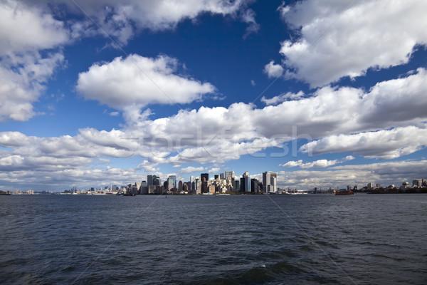 New York City panorama manhattan céu escritório edifício Foto stock © hanusst