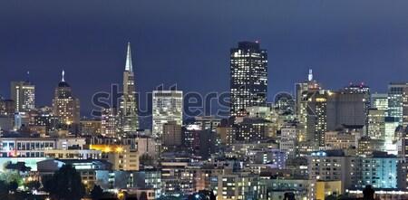 San Francisco centro de la ciudad noche crepúsculo California negocios Foto stock © hanusst