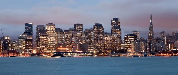 ストックフォト: サンフランシスコ · タウン · 1泊 · 黄昏 · カリフォルニア · ビジネス