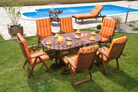 Garden furniture Stock photo © hanusst