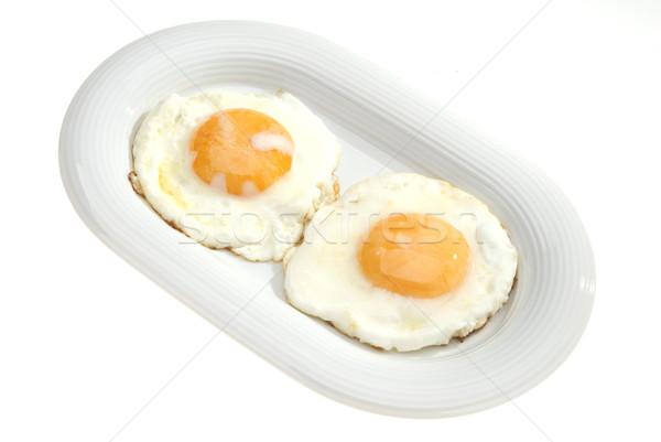 Dois ovos par prato comida ovo Foto stock © hanusst