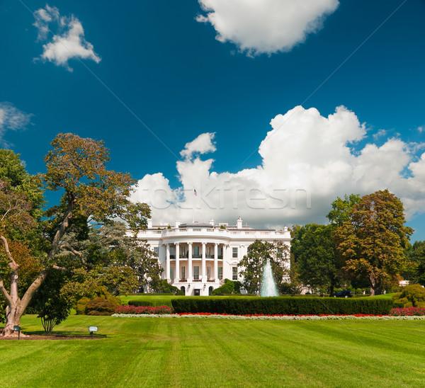 Casa blanca Washington DC sur puerta casa edificio Foto stock © hanusst