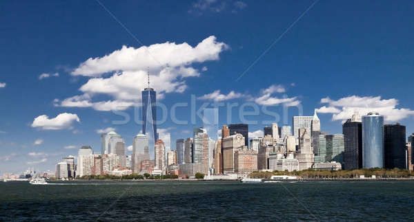 New York City centre-ville freedom tower 2014 Skyline après-midi Photo stock © hanusst