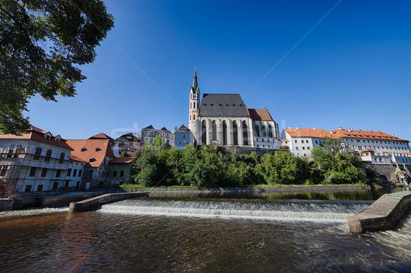 Cesky Krumlov the  St. Vitus Church Stock photo © hanusst