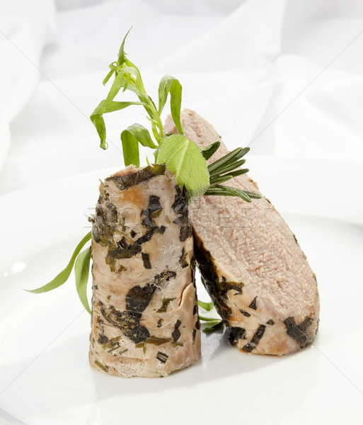 Grilled Sirloin with green herbs Stock photo © hanusst