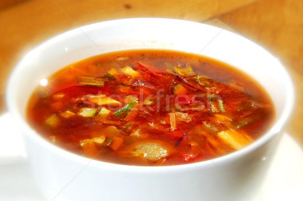 The minestrone soup Stock photo © hanusst