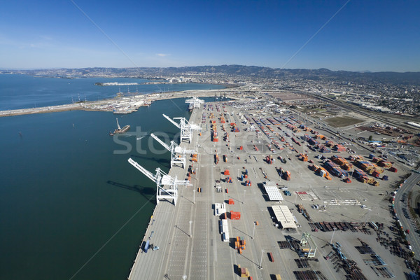 The Oakland Outer Harbor Aerial Stock photo © hanusst