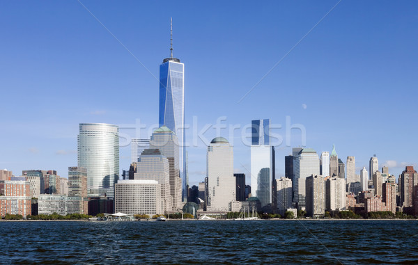 The New York City Downtown w the Freedom tower 2014 Stock photo © hanusst
