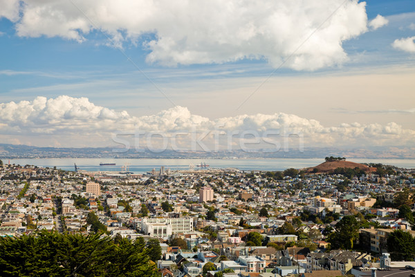 San Francisco Central Waterfront and Bernal Heights Stock photo © hanusst