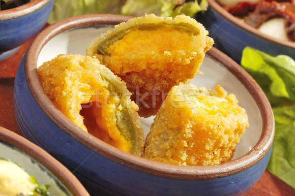 Mexican speciality Jalapenos w cheddar Stock photo © hanusst