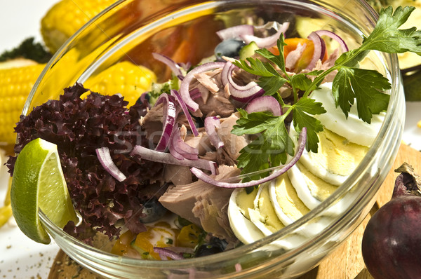 The tuna salad Mexican style Stock photo © hanusst