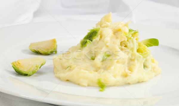 Potato puree w Flower Cabbage Stock photo © hanusst