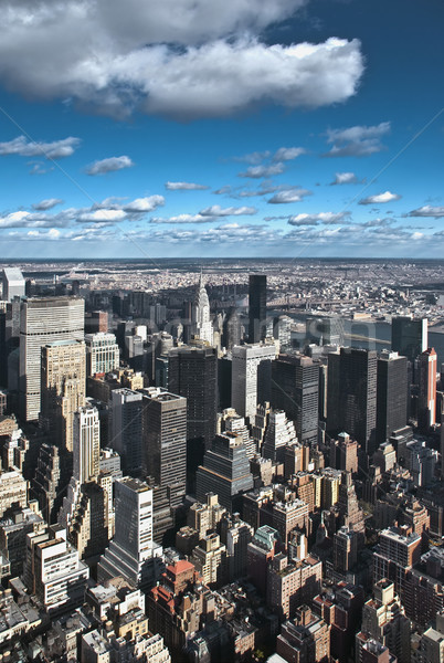 New York City panorama hemel kantoor gebouw straat Stockfoto © hanusst
