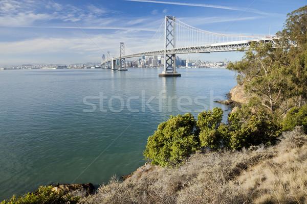 San Francisco and Bay bridge Stock photo © hanusst