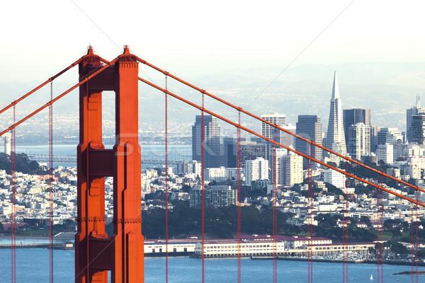 San Francisco with the Golden Gate bridge Stock photo © hanusst