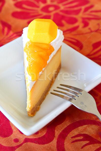 Delicous mango cheesecake  Stock photo © happydancing