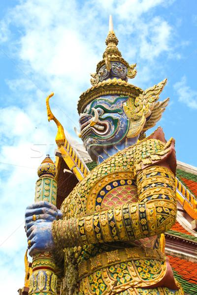 後見人 像 宮殿 バンコク 青 旅行 ストックフォト © happydancing