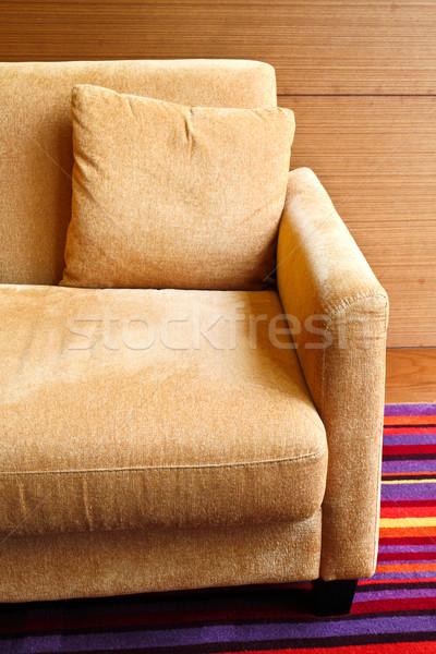 Detail sofa woonkamer huis hout muur Stockfoto © happydancing
