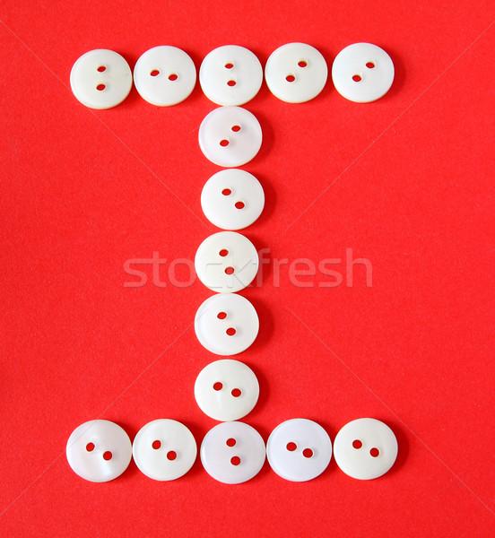 Letra i botones rojo papel resumen diseno Foto stock © happydancing