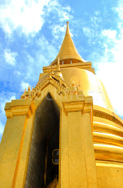 The gold pagoda in Grand Palace Wat Phra Kaew Bangkok, Thailand  Stock photo © happydancing