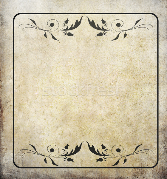 old grunge paper background with label vintage  Stock photo © happydancing