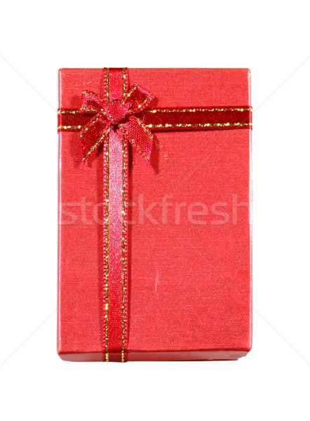Rojo caja de regalo aislado blanco papel presente Foto stock © happydancing