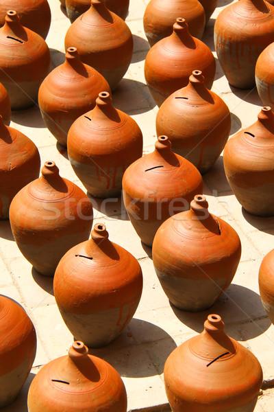 Veel klei natuur kunst asia bodem Stockfoto © happydancing