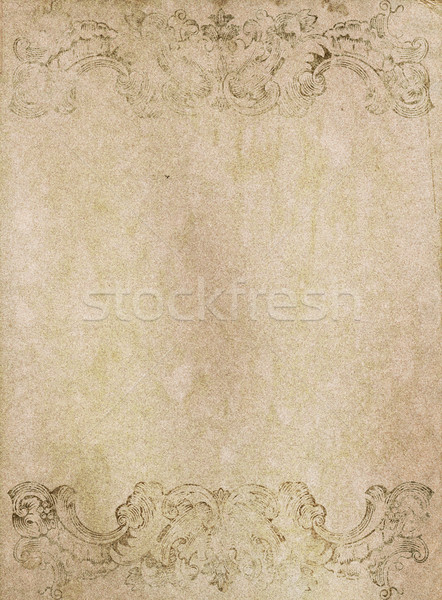 old grunge wall background with vintage victorian style  Stock photo © happydancing
