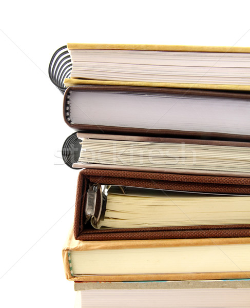 ноутбук изолированный белый книга школы Сток-фото © happydancing