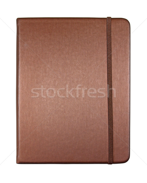 silk brown color cover note book isolated on white background Stock photo © happydancing