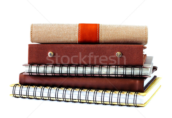 stack of notebook isolated on white  Stock photo © happydancing