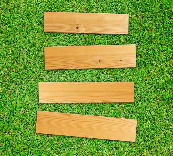 Groen gras voorjaar gras hout natuur Stockfoto © happydancing