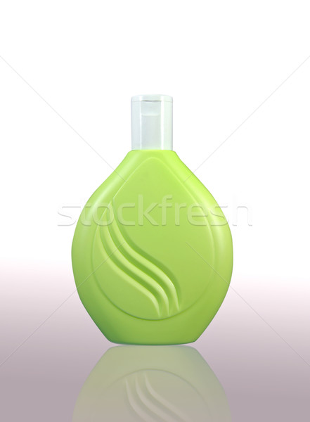Plastic fles lichaam haren gezondheid Stockfoto © happydancing