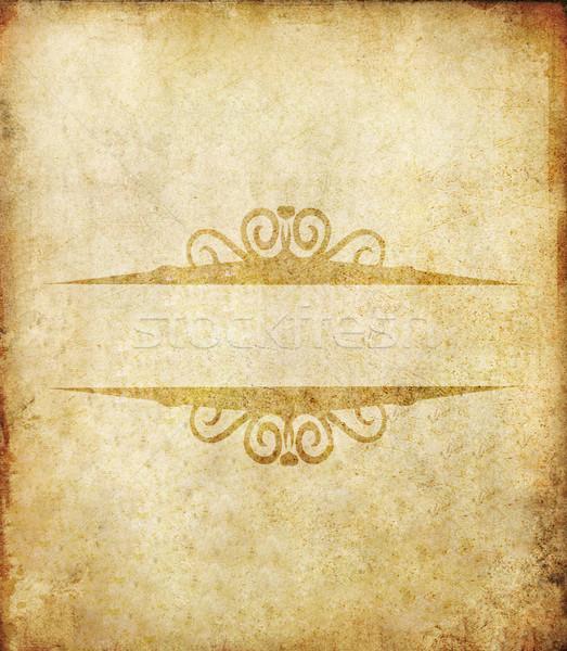 Oude grunge papier label vintage textuur Stockfoto © happydancing