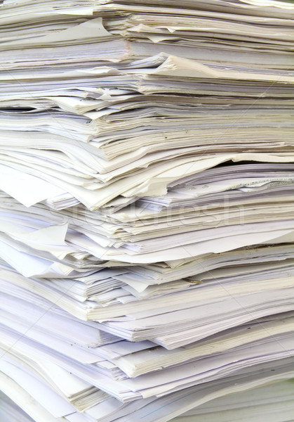 stack of used papers for recycling Stock photo © happydancing