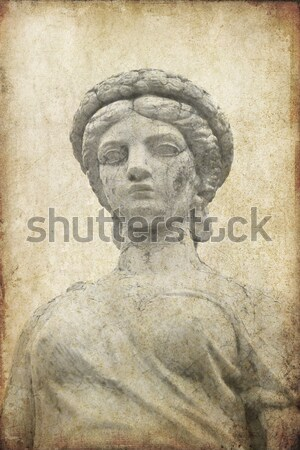 Roman Statue in black and white  Stock photo © happydancing
