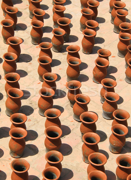 Many clay vases kept for drying   Stock photo © happydancing