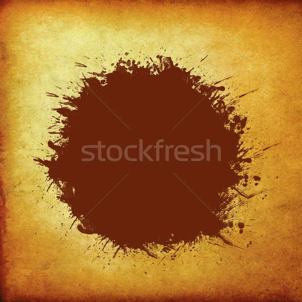 brown grunge circle on old vintage paper Stock photo © happydancing